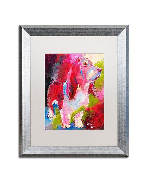 """Trademark Global Richard Wallich 'Red Head' Matted Framed Art - 16"""" x 20"""""""