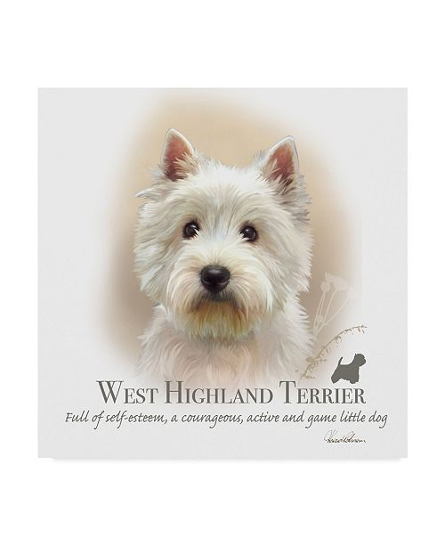 "Trademark Global Howard Robinson 'West Highland Terrier' Canvas Art - 18"" x 18"""