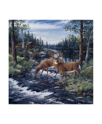 "Jeff Tift 'Peaceful Morning' Canvas Art - 18"" x 18"""