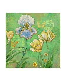 "Maria Rytova 'Spring Flowers II' Canvas Art - 18"" x 18"""