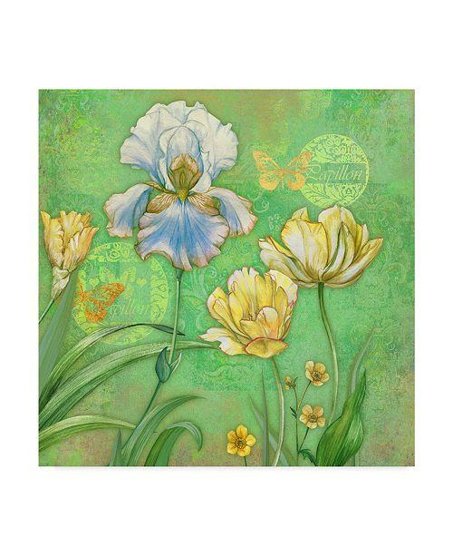 "Trademark Global Maria Rytova 'Spring Flowers II' Canvas Art - 18"" x 18"""