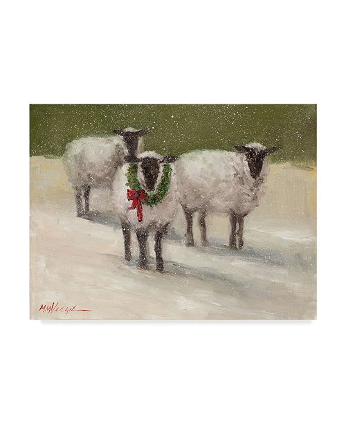 "Trademark Global Mary Miller Veazie 'Lambs With Wreath' Canvas Art - 18"" x 24"""