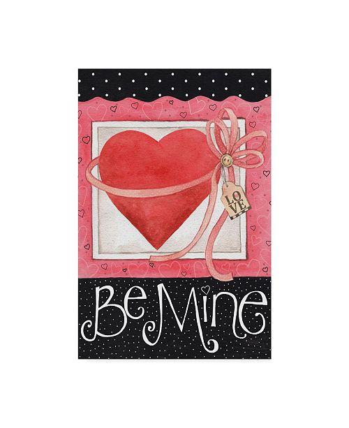 "Trademark Global Melinda Hipsher 'Pink Heart Be Mine' Canvas Art - 16"" x 24"""