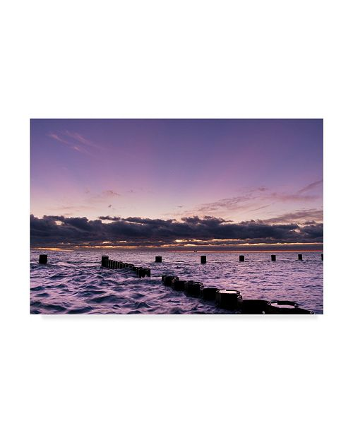 "Trademark Global NjR Photos 'Behind The Clouds' Canvas Art - 16"" x 24"""
