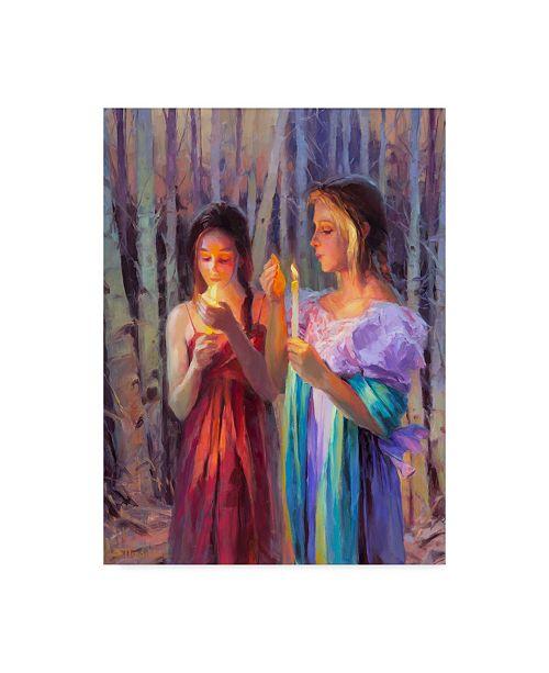 """Trademark Global Steve Henderson 'Light In The Forest' Canvas Art - 18"""" x 24"""""""
