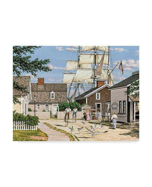 "Trademark Global William Breedon 'Seaport Wheelman' Canvas Art - 18"" x 24"""