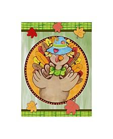 "Valarie Wade 'Turkey Scarecrow' Canvas Art - 18"" x 24"""