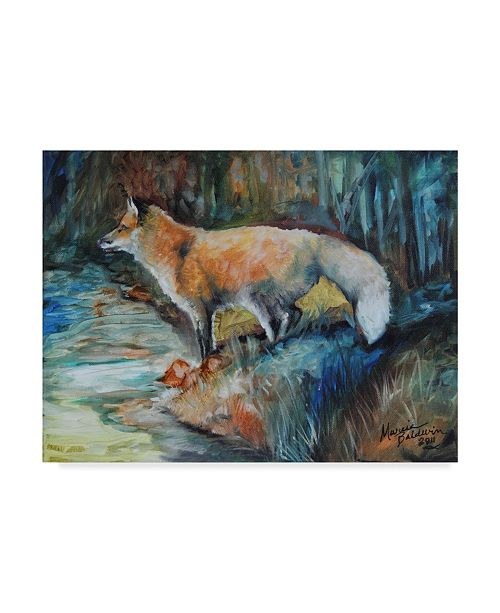 "Trademark Global Marcia Baldwin 'Red Fox Ii' Canvas Art - 19"" x 14"""