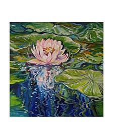 "Marcia Baldwin 'Sweet Lotus' Canvas Art - 18"" x 18"""