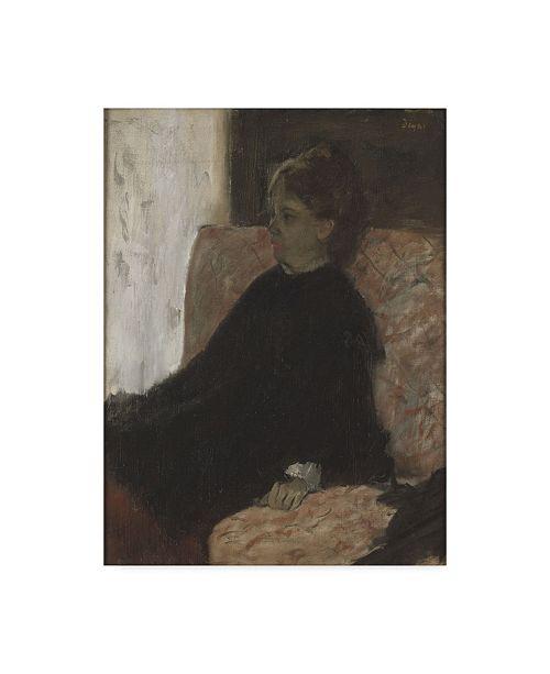 "Trademark Global Edgar Degas 'Lady In Black' Canvas Art - 24"" x 18"""