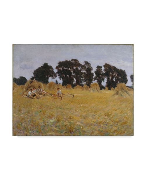 """Trademark Global John Singer Sargent 'Reapers Resting In A Wheat Field' Canvas Art - 19"""" x 14"""""""
