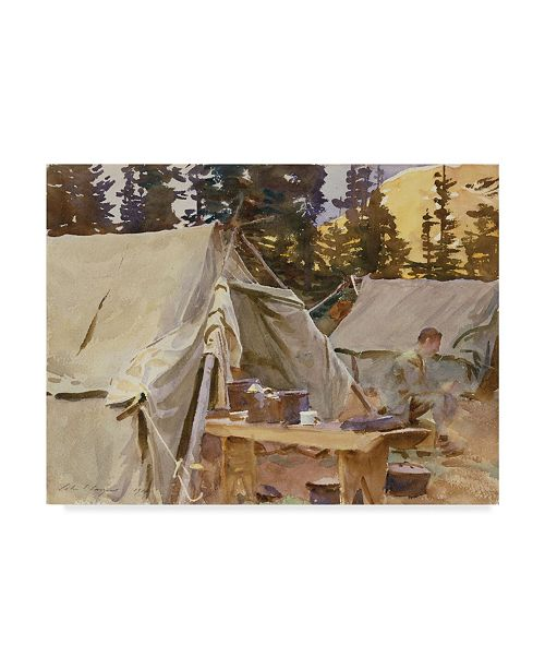 "Trademark Global John Singer Sargent 'Camp At Lake Ohara' Canvas Art - 19"" x 14"""