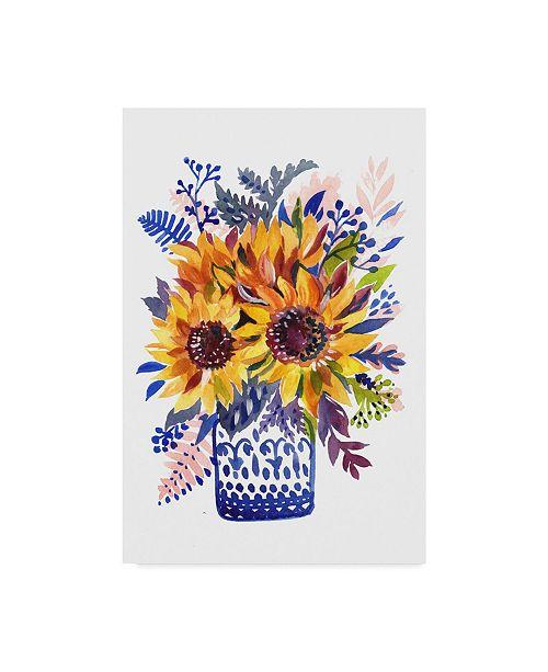 "Trademark Global Irina Trzaskos Studio 'Flowers 3' Canvas Art - 12"" x 19"""