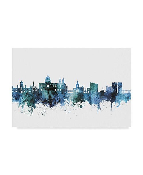 "Trademark Global Michael Tompsett 'Galway Ireland Blue Teal Skyline' Canvas Art - 19"" x 12"""