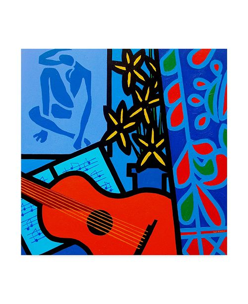 "Trademark Global John Nolan 'Still Life With Matisse 2' Canvas Art - 14"" x 14"""