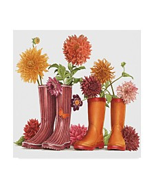 "Francien Van Westering 'Rain Boots And Flowers' Canvas Art - 24"" x 24"""