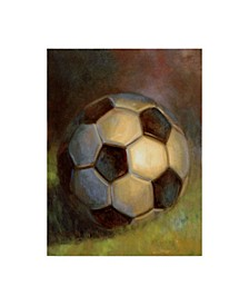 "Hall Groat Ii 'Soccer Ball Abstract' Canvas Art - 14"" x 19"""