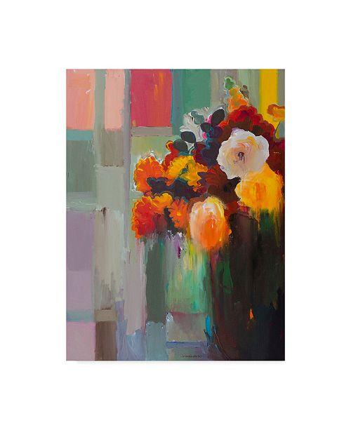 "Trademark Global Hooshang Khorasani 'Asymmetrical Bouquet 1' Canvas Art - 24"" x 32"""