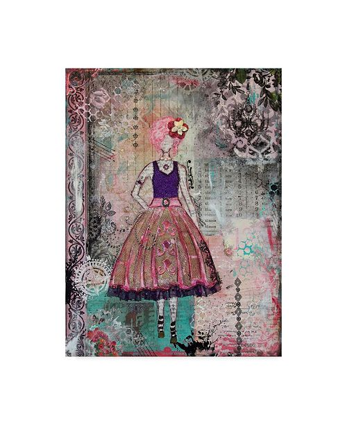 "Trademark Global Janelle Nichol 'Just Smile' Canvas Art - 14"" x 19"""