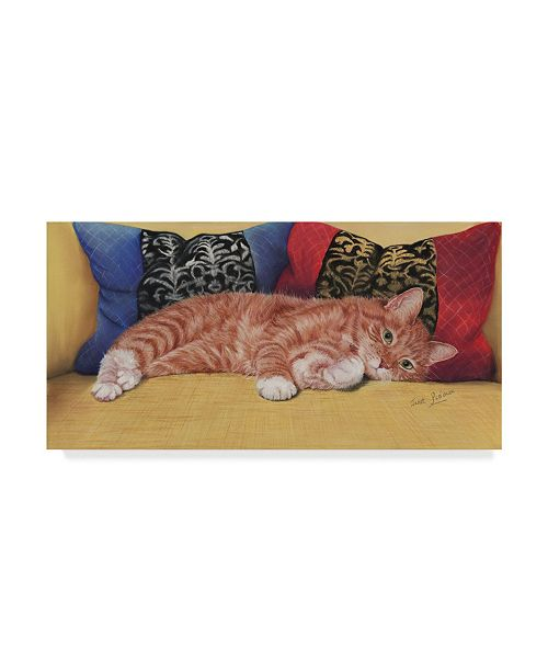 "Trademark Global Janet Pidoux 'Ziggy' Canvas Art - 24"" x 12"""