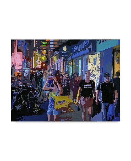 "Trademark Global J Arthur 'Night Times' Canvas Art - 19"" x 14"""