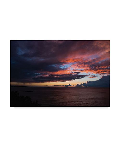 "Trademark Global Kurt Shaffer 'Awesome Sunset Magic Hour' Canvas Art - 19"" x 12"""