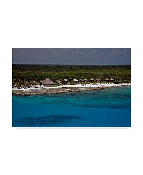 "Trademark Global J.D. Mcfarlan 'Belize 2' Canvas Art - 19"" x 12"""