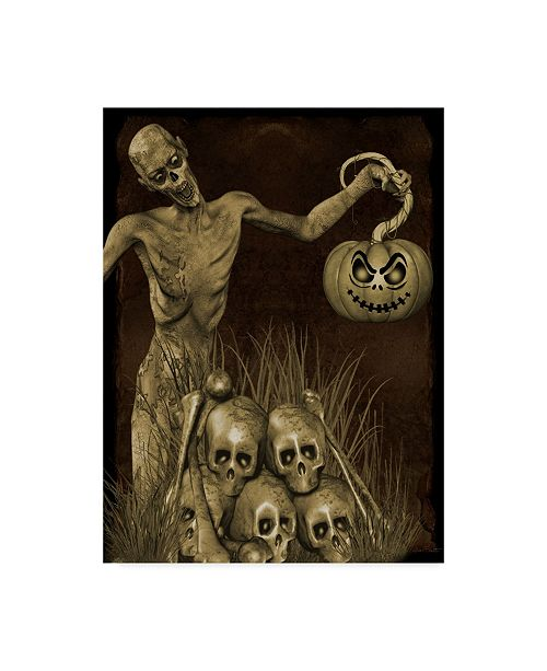 "Trademark Global Jean Plout 'Halloween Graveyard 2' Canvas Art - 14"" x 19"""