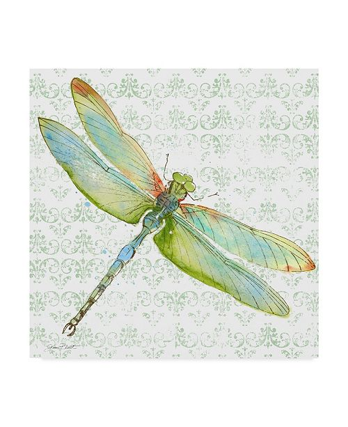 """Trademark Global Jean Plout 'Dragonfly Bliss 3' Canvas Art - 14"""" x 14"""""""