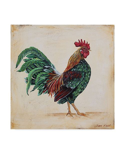 """Trademark Global Jean Plout 'Rooster 7' Canvas Art - 14"""" x 14"""""""