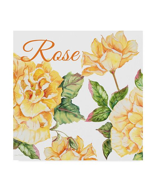 """Trademark Global Jean Plout 'Rose 2' Canvas Art - 14"""" x 14"""""""