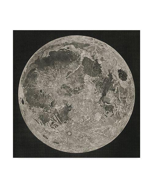 """Trademark Global John Russell 'Lunar Cartography, 1805-06' Canvas Art - 18"""" x 18"""""""