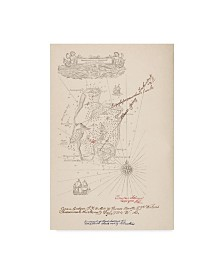 "Robert Louis Stevenson 'Map Of Treasure Island' Canvas Art - 16"" x 24"""