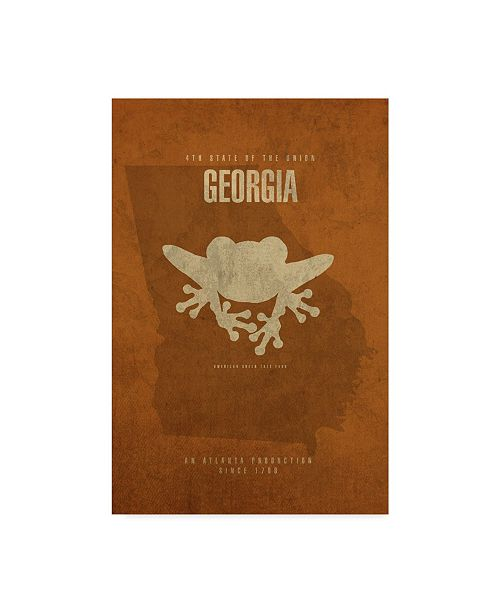 "Trademark Global Red Atlas Designs 'State Animal Georgia' Canvas Art - 16"" x 24"""