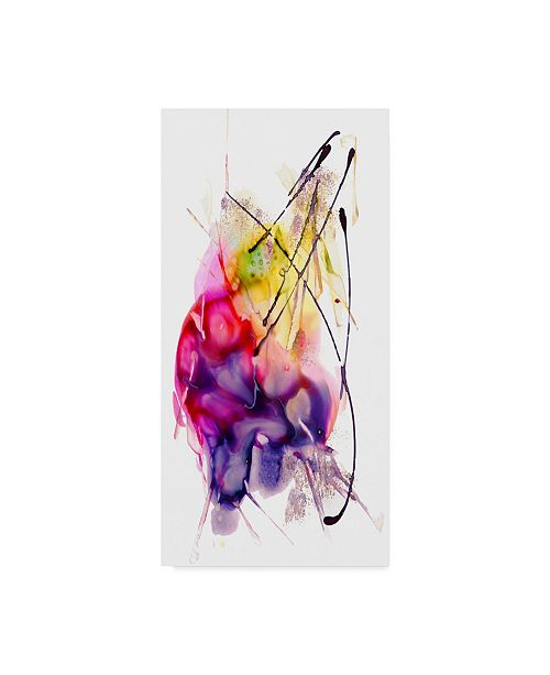 """Trademark Global Masters Fine Art 'Abstract Number 06' Canvas Art - 12"""" x 24"""""""