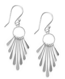 Paddle Drop Earrings in Sterling Silver, Created for Macy's