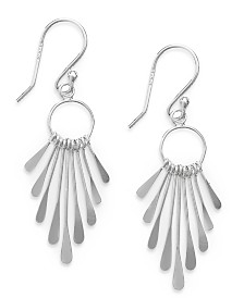 Giani Bernini Paddle Drop Earrings in Sterling Silver, Created for Macy's