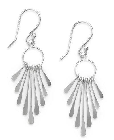 Giani Bernini Sterling Silver Earrings, Paddle Drop Earrings