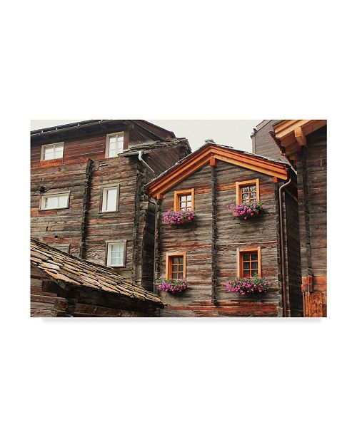 "Trademark Global Les Mumm 'Old Zermatt' Canvas Art - 19"" x 12"""