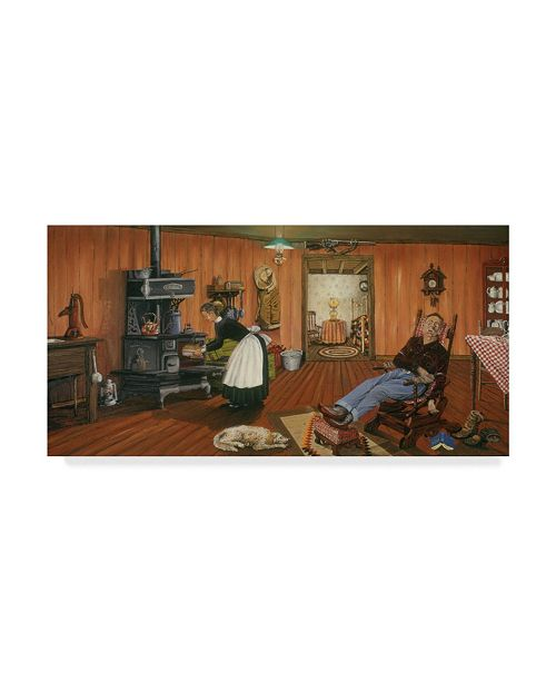 """Trademark Global Les Ray 'Home Comfort' Canvas Art - 24"""" x 12"""""""