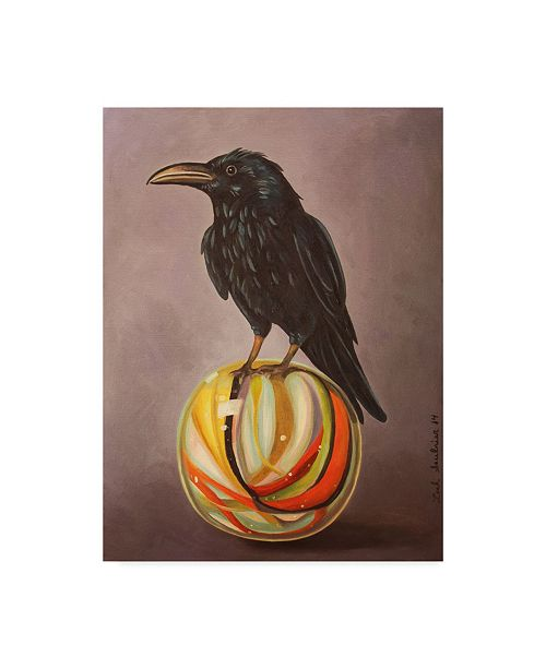 "Trademark Global Leah Saulnier 'Crow On A Marble' Canvas Art - 18"" x 24"""