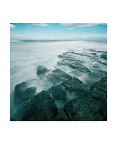 "Trademark Global Tom Quartermaine 'Blue Seascape 1' Canvas Art - 18"" x 18"""
