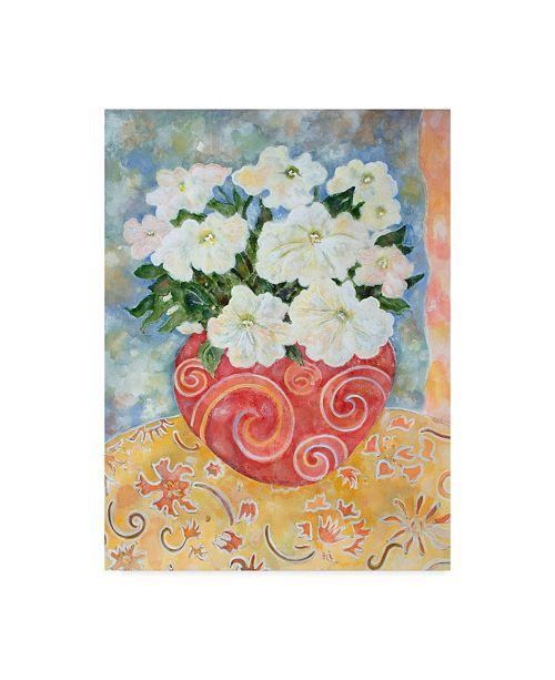"Trademark Global Lorraine Platt 'Petunias And Clouds' Canvas Art - 14"" x 19"""