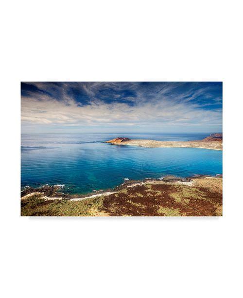 "Trademark Global Maciej Duczynski 'Spain Ocean 3' Canvas Art - 24"" x 16"""