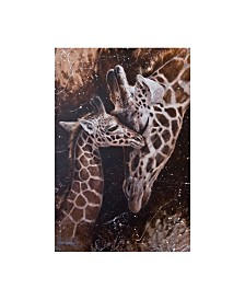 "Michael Jackson 'Baby Giraffes' Canvas Art - 22"" x 32"""