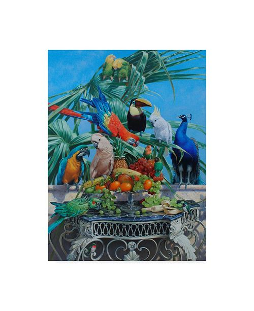 "Trademark Global Michael Jackson 'Who Let The Birds Out' Canvas Art - 14"" x 19"""