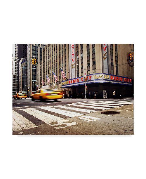"Trademark Global Nina Papiorek 'NYC Radio City' Canvas Art - 19"" x 14"""