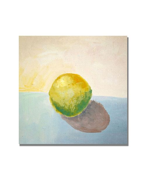 "Trademark Global Michelle Calkins 'Yellow Lemon Still Life' Canvas Art - 18"" x 18"""