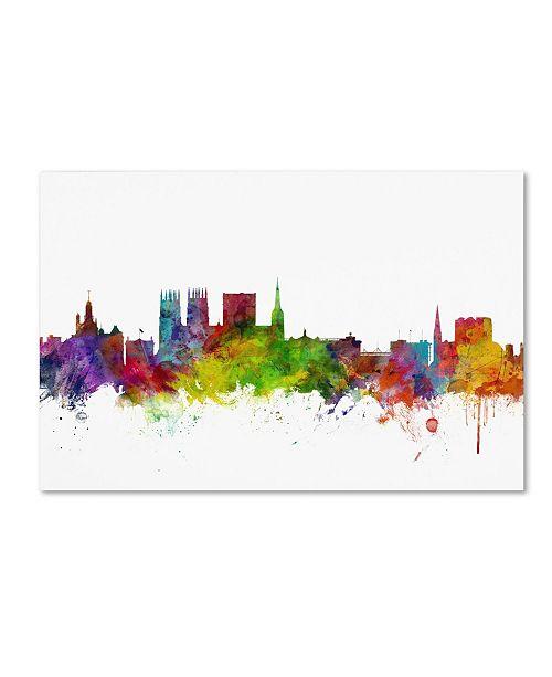 "Trademark Global Michael Tompsett 'York England Skyline II' Canvas Art - 19"" x 12"""