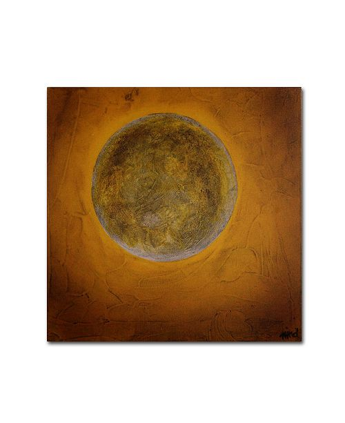 "Trademark Global Nicole Dietz 'Moon on Yellow' Canvas Art - 18"" x 18"""